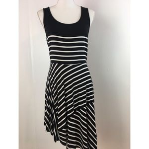 Boston Proper Striped Sleeveless Dress Size Small